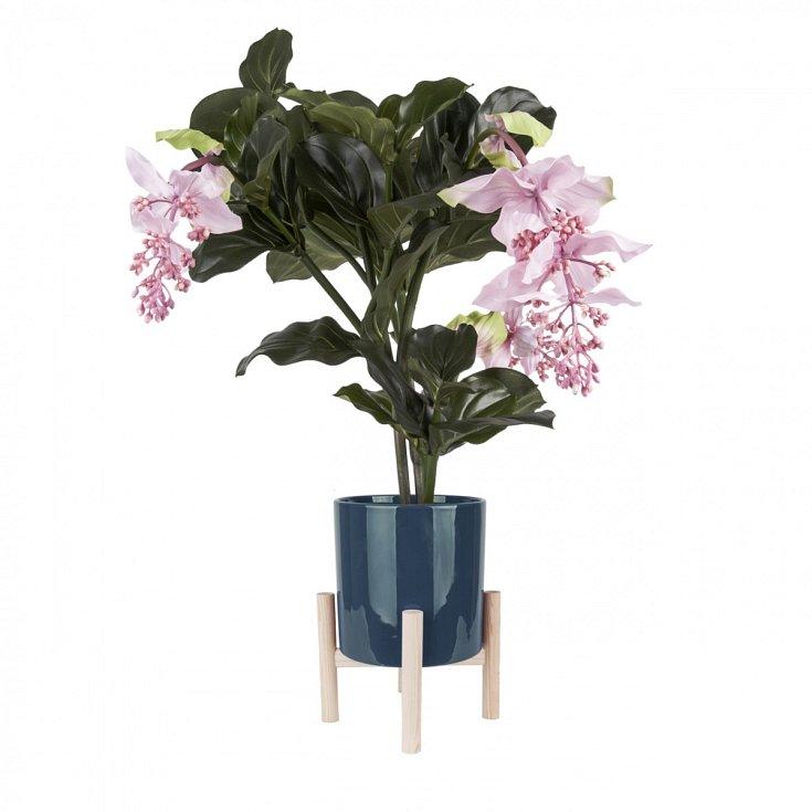 Keramicky modrý květináč Tesle - 1290 korun