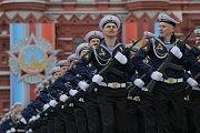 Ruská vojenská přehlídka v Moskvě