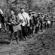 Pol Pot vede Rudé Khméry do akce