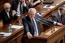 Jednání Sněmovny o žádost o vyslovení souhlasu s trestním stíhání poslanců Andrej Babiš a Jaroslava Faltýnka 19. ledna v Praze. Faltýnek
