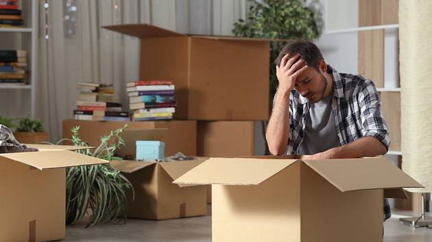 Vystěhování, neplatič, dlužník - Ilustrační foto