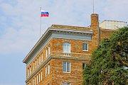 Generální konzulát Ruské federace v San Francisku v době, kdy nad ním ještě vlála ruská vlajka