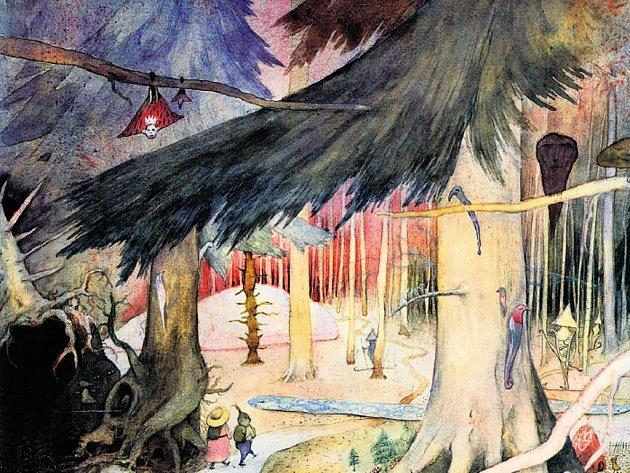 Cesta tam a zase zpátky. Výtvarník František Skála má les rád. Je mu zdrojem inspirace i materiálů pro jeho díla. Výrobcům divadelní scény zakázal používat latě z obchodu, vše je vytvořeno z přírodních klacků.