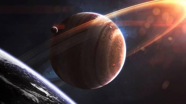 I takto mohl v minulosti vypadat Mars. Tedy pokud rudá planeta skutečně měla prstenec