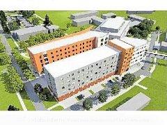 vizualizace nové podoby nemocnice v Uherském Hradišti
