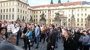 Demonstrace na Hradčanském náměstí, 11. května 2017