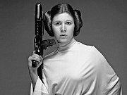 Carrie Fisher, princezna Liea ve své nejslavnější roli z Hvězdných válek