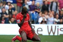 Mario Balotelli z Liverpoolu po nevydařené akci proti QPR.