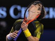 Andy Murray ve finále Australian Open proti Novaku Djokovičovi.