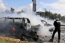 Konvoj autobusů v Sýrii zasáhla exploze.