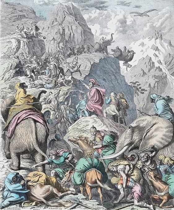 Hannibal proslul využíváním slonů v bojích