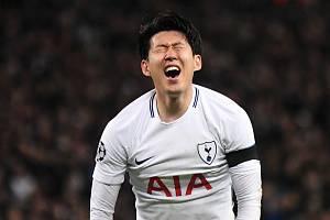 Heung-Min Son v dresu anglického týmu Tottenham Hotspur
