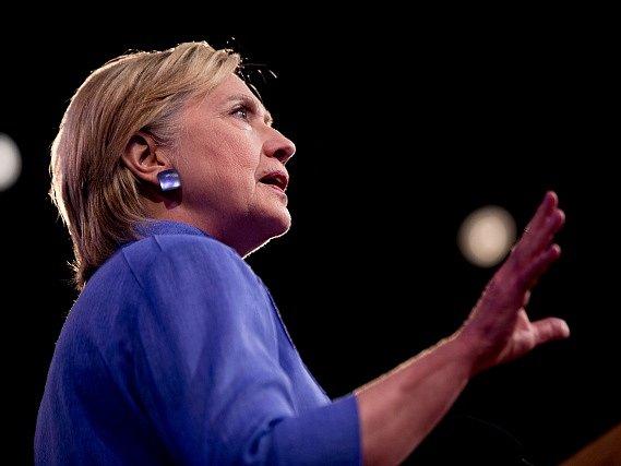 Prezidentská kandidátka Hillary Clintonová.