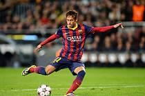 Neymar v akci proti Celticu