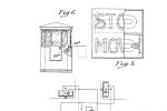 Nákres prvních semaforů z patentu Jamese B Hoge