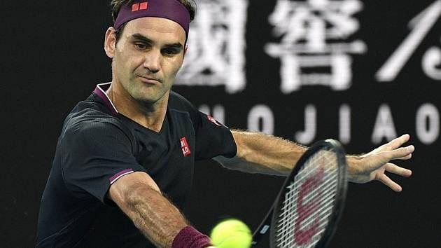 Švýcarský tenista Roger Federer v semifinále Australian Open.