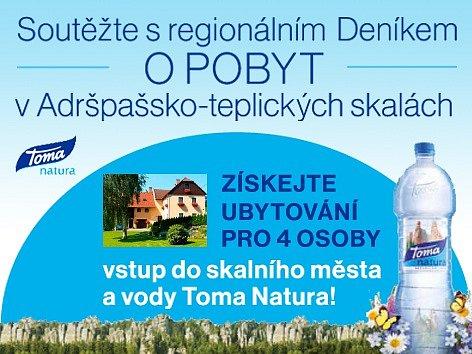 Soutěžte s regionálním Deníkem O POBYT v Adršpašsko-teplických skalách.