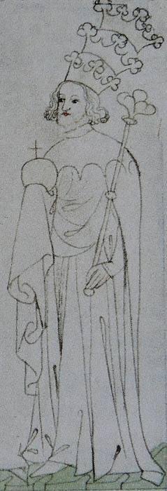Václav III., ilustrace ze Zbraslavské kroniky