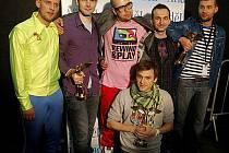Hudební ceny Anděl se předávaly 23. února v Praze. Skupina Nightwork.