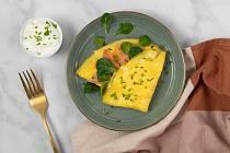 Omeleta s lososem