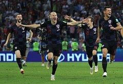 POSTOUPILI. Chorvatští fotbalisté na penalty vyřadili domácí Rusko a připojili se k Anglii, Francii a Belgii v semifinále MS.
