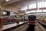Hala tramvajové vozovny v pražském Hloubětíně