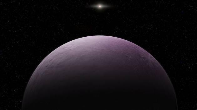 Umělecká představa planetky 2018 VG18.