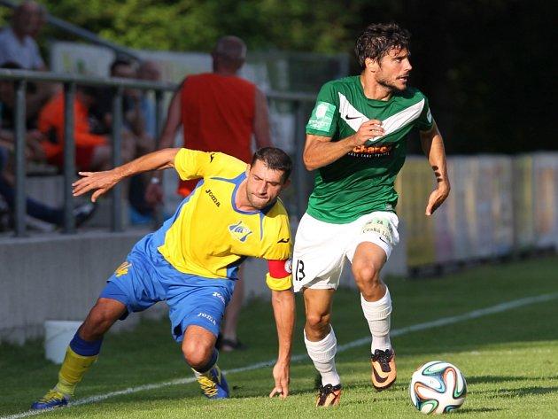 Fotbalisté Jablonce (v zeleném) proti Rostovu.