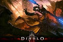 Mnich z počítačové hry Diablo 3.