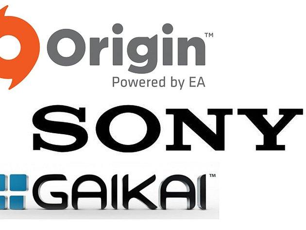 Loga společností Sony a Gaikai.