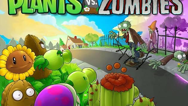 Počítačová hra Plants vs Zombies.