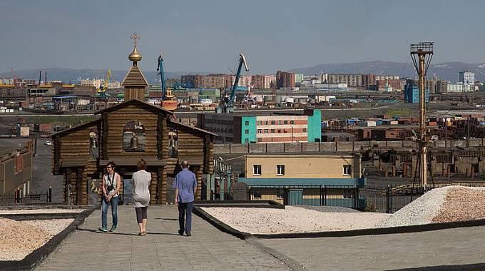 Památník obětem gulagu v sibiřském Norilsku
