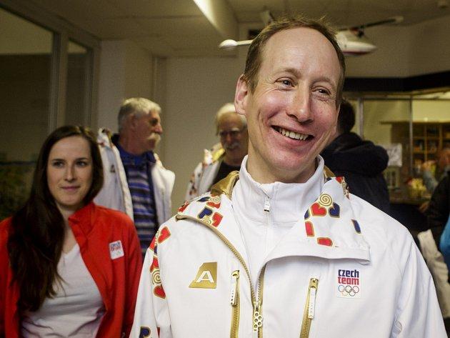 Lukáš Bauer před odletem na olympiádu vSoči.