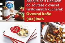 Soutěž o dvacet limitovaných kuchařek Ovesná kaše 30x jinak.