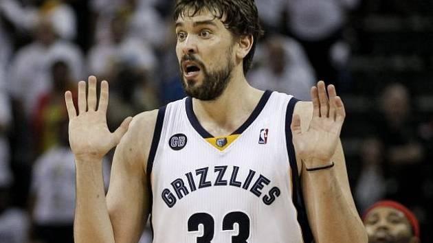 ÚStřední postava Grizzlies Marc Gasol.