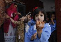 Očkování proti dětské obrně v Pákistánu