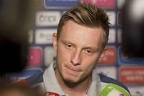 Ladislav Krejčí na setkání s novináři před kvalifikačním zápasem s Norskem.