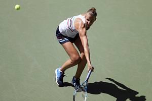 Česká tenistka Karolína Plíšková v utkání 1. kola US Open.