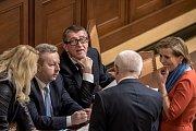 Jednání Sněmovny o žádost o vyslovení souhlasu s trestním stíhání poslanců Andrej Babiš a Jaroslava Faltýnka 19. ledna v Praze.