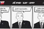 Prezidentské volby - komiks - Jiří Hynek - Sliby - chyby