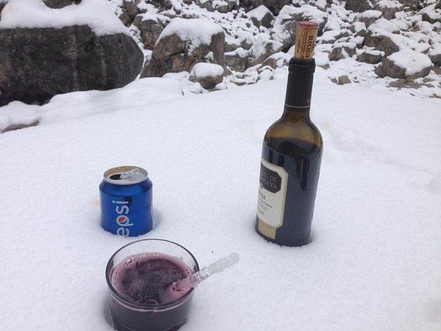 První sníh ve španělských Pyrenejích