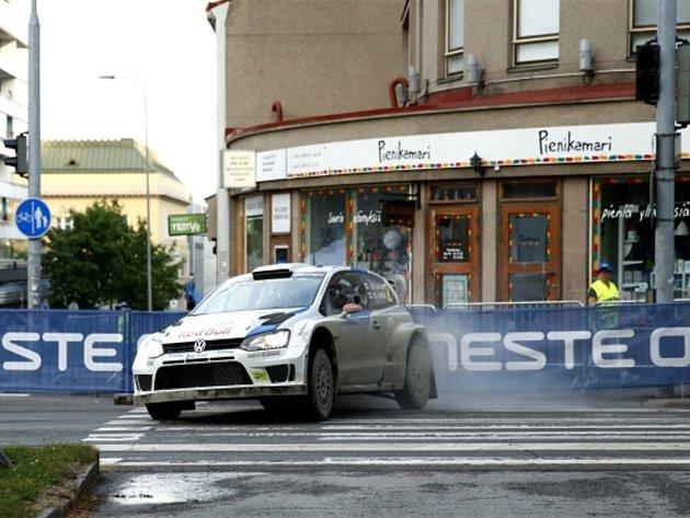Jari-Matti Latvala na Finské rallye.