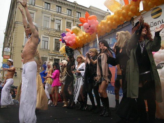 Průvod homosexuálů se odehrál 27. května 2007 v rámci oslav založení Petrohradu.