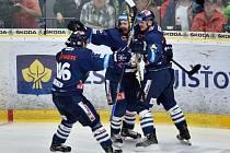Třetí semifinále mezi Mladou Boleslaví a Libercem: Euforie na straně hostujících hokejistů