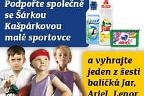 Podpořte společně se Šárkou Kašpárkovou malé sportovce