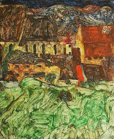 Obraz Egona Schieleho, který byl ukraden.