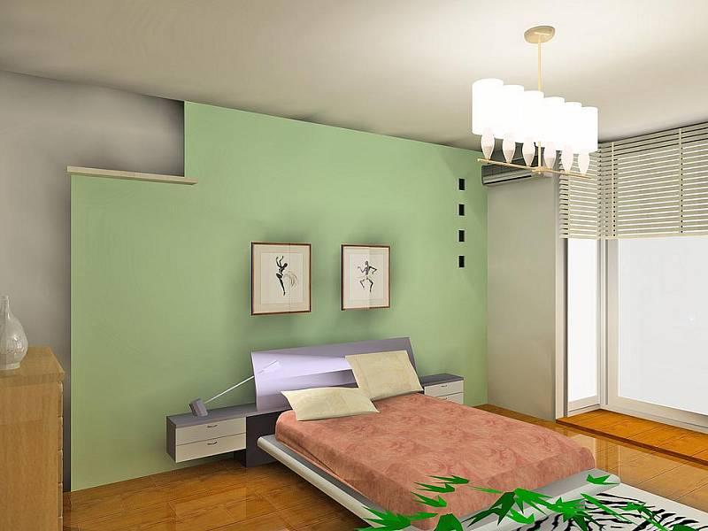 Do ložnice se hodí zelená, nebo modrá barva. Ilustrační foto