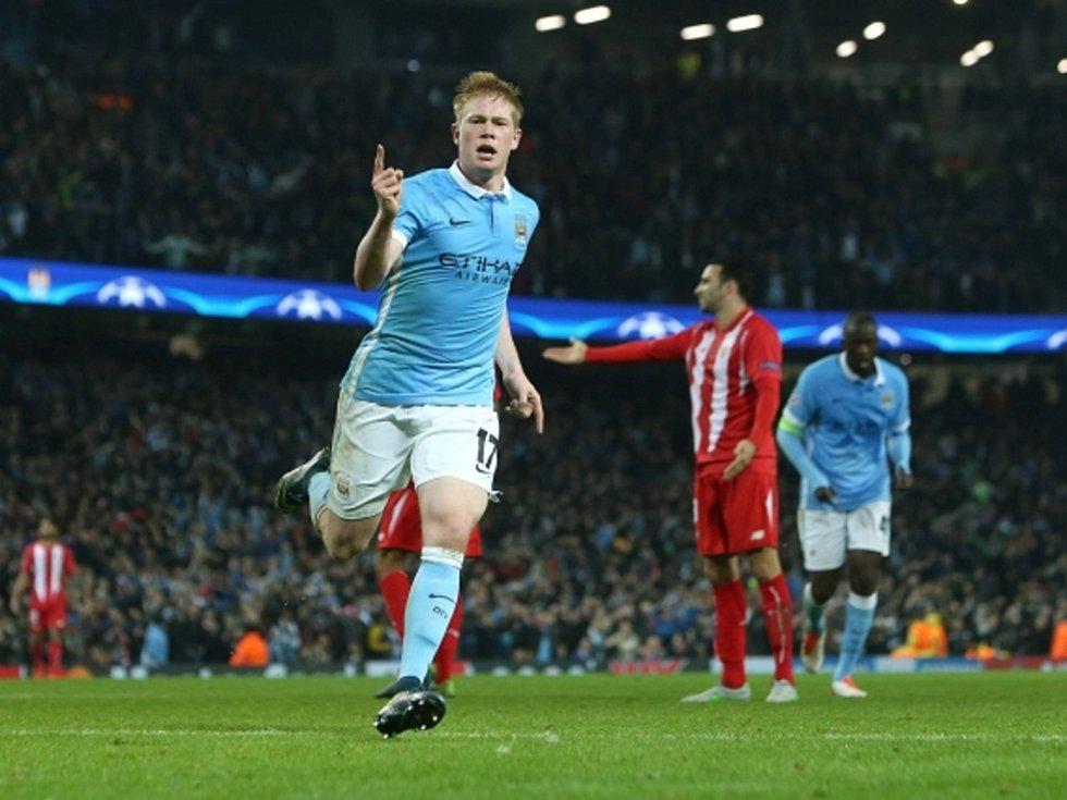 Kevin De Bruyne zařádil vítězství Manchesteru City nad Sevillou.