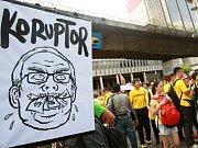 V Malajsii lidé protestují proti premiérovi.