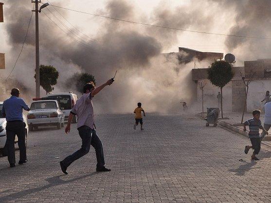 Syrské střely zasáhly ulice tureckého města Akcakale